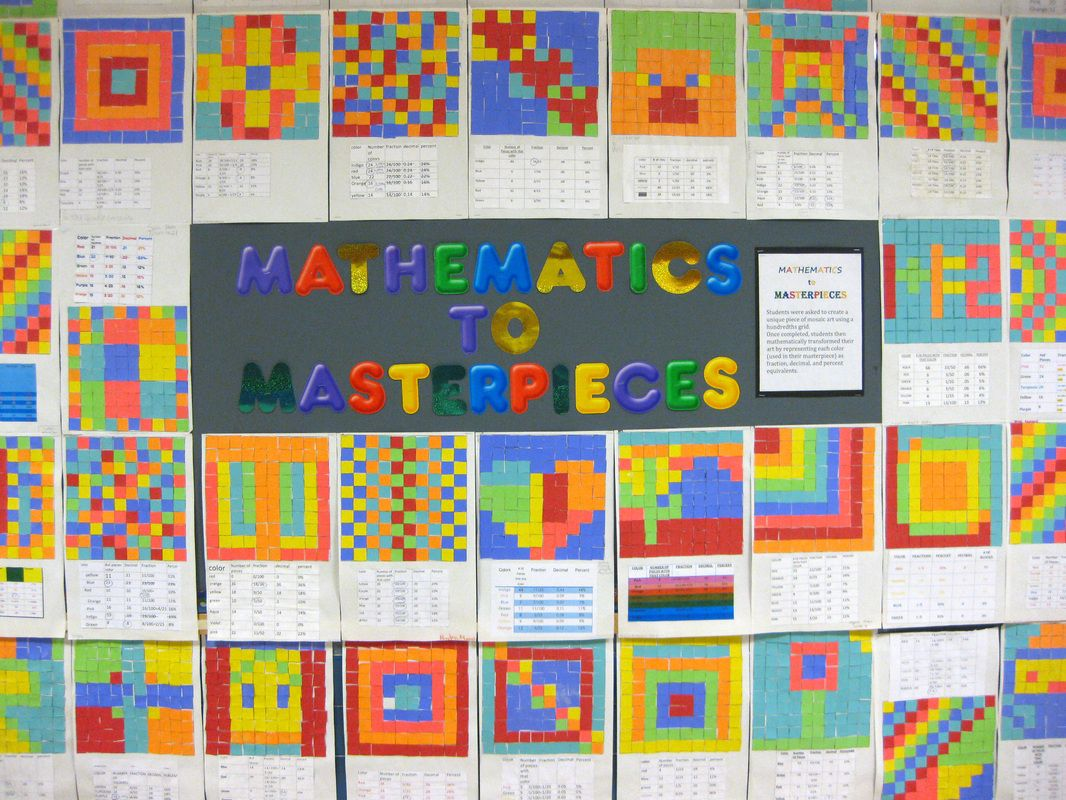 mathterpieces students were asked to create unique pieces of mosaic art using a 100th grid once. Black Bedroom Furniture Sets. Home Design Ideas