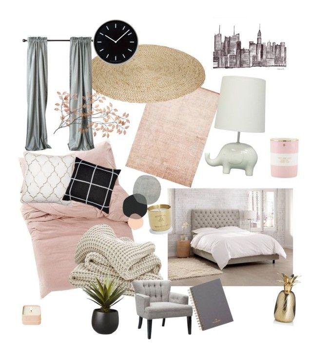 """Rose room"" by lijifhorse on Polyvore featuring interior, interiors, interior design, Zuhause, home decor, interior decorating, Circo, Kate Spade, Lemnos und Mulberry"