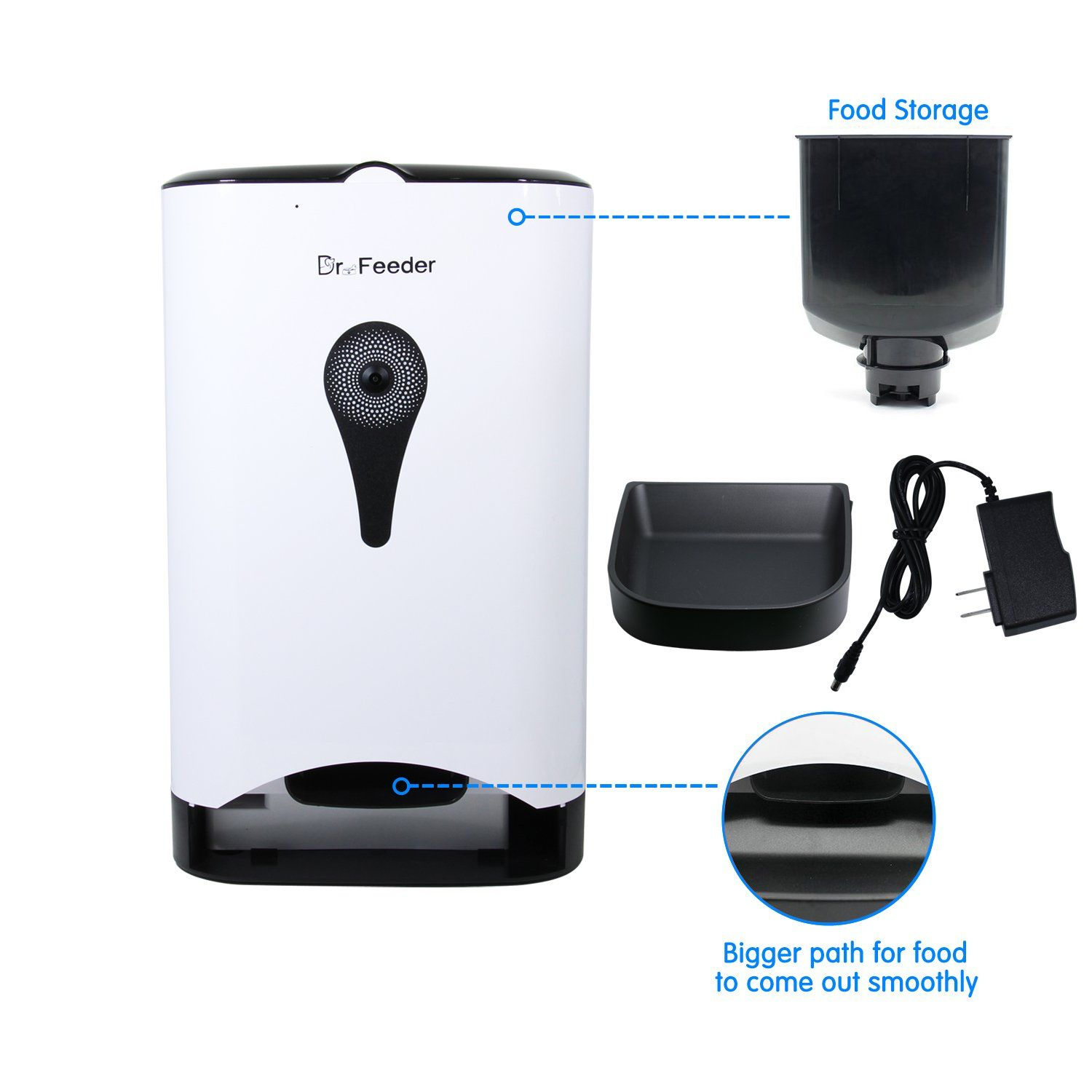 Dr.Feeder with Video/Audio Smart Pet Feeder Remote