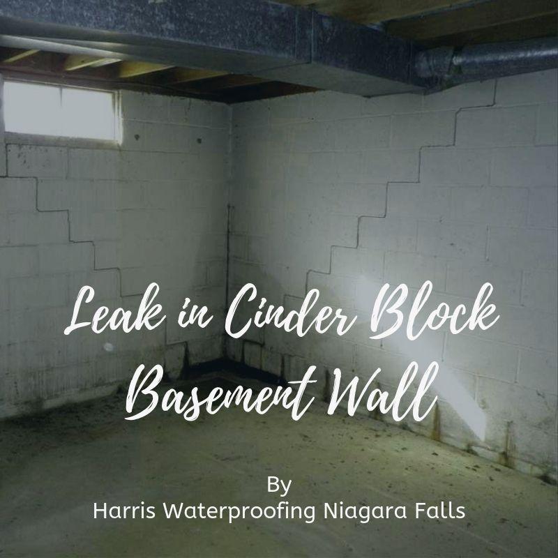 Leak In Cinder Block Basement Wall Basement Walls Basement Repair Wet Basement