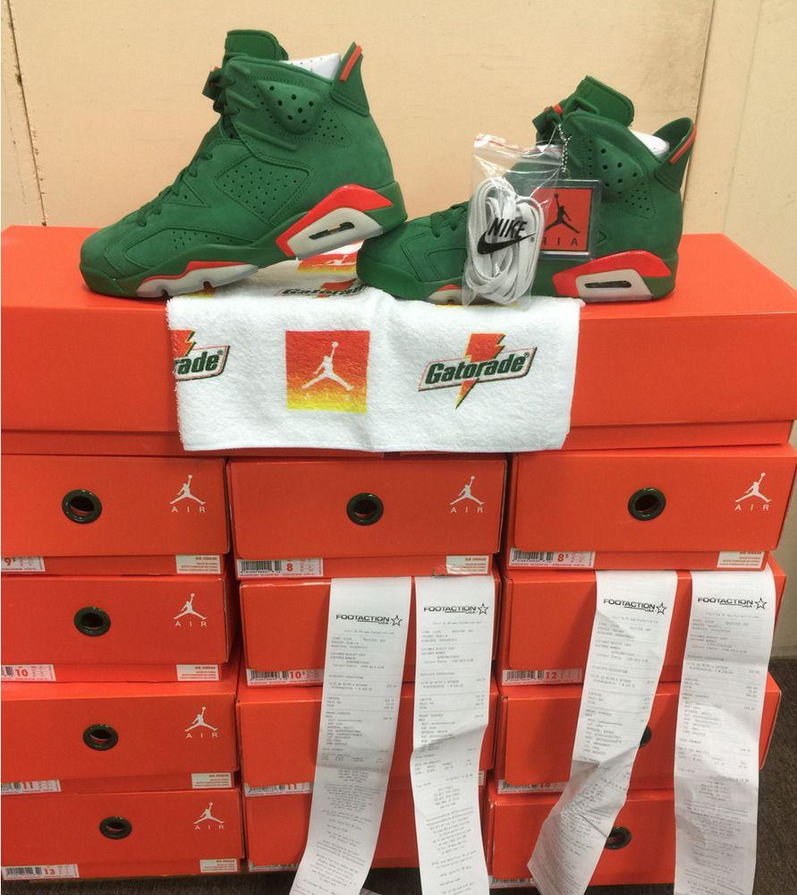 Nike Air Jordan 6 Retro NRG G8RD Pine Green GATORADE AJ5986-335 Authentic   MichaelJordan  AirJordan  Jordans af5d7b199
