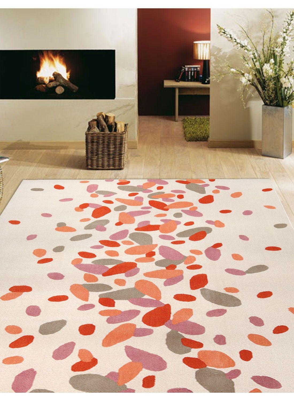 Tapis moderne PETALS orange | chambre | Tapis moderne, Tapis ...