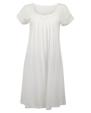 4ffe98a366 Nora-Rose by cyberjammies Short Sleeve Knitted Nightdress Dobby
