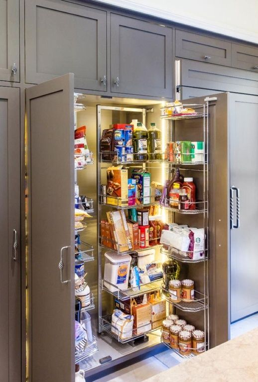 Food Storage Cabinet With Doors Beauteous 60 Gorgeous WalkIn Kitchen Pantries For 60 Kitchen