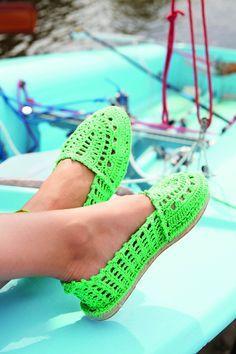 Gehäkelte Espadrilles Feet Pinterest