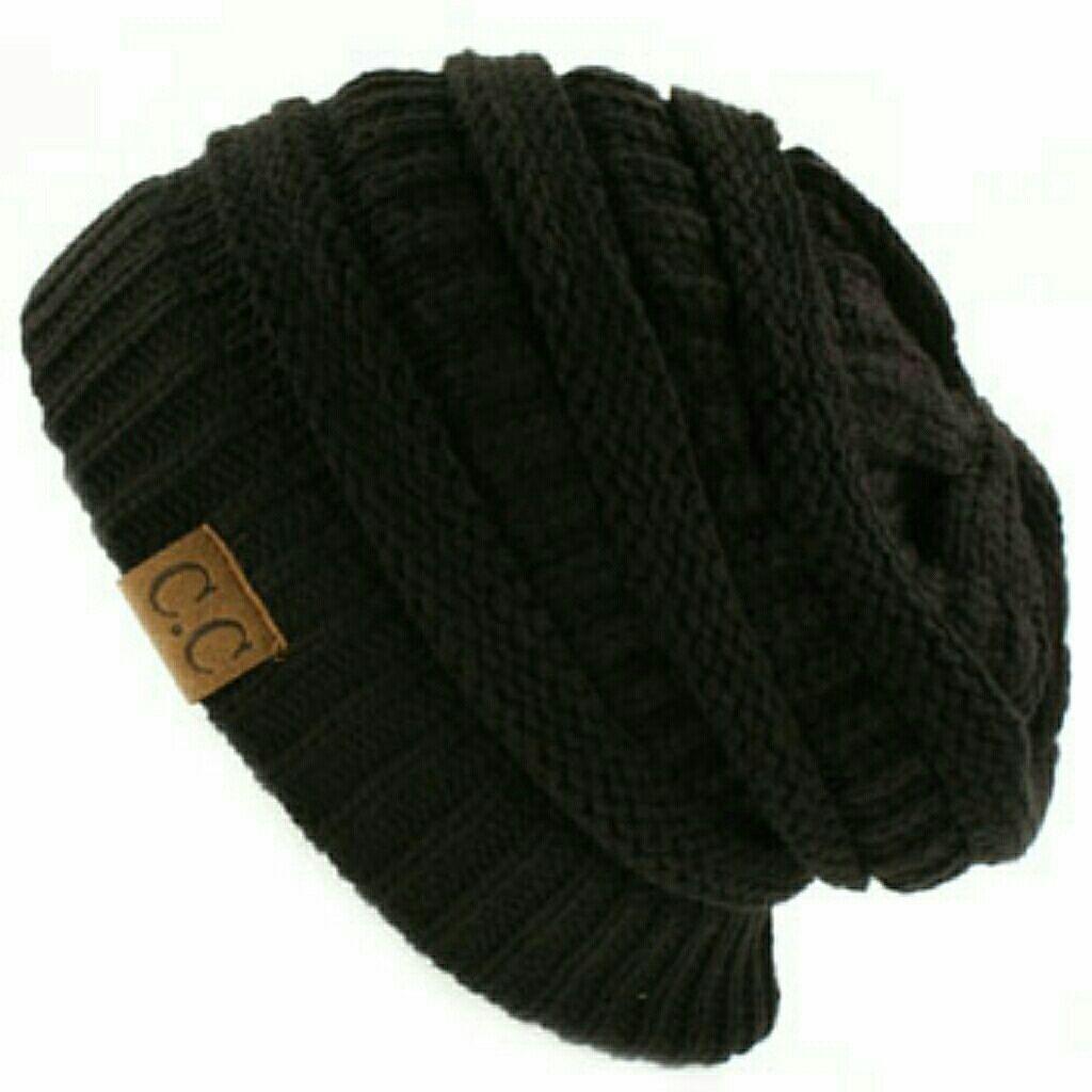 0d4c7f4d5b409 ... real nwt cc unisex ribbed beanie knit hat black a5053 d8b3c