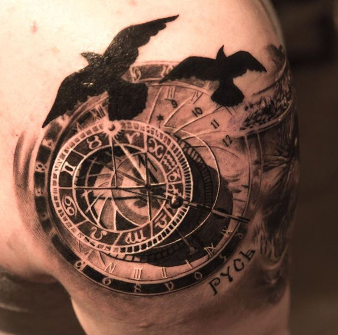 18+ Awesome Compass clock tattoo meaning image ideas
