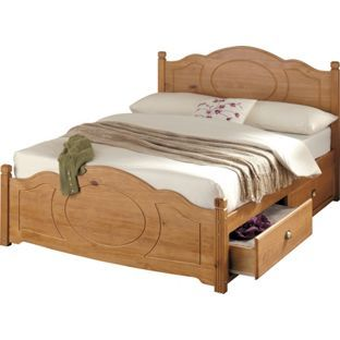 Best Sherington Pine Double Bed Frame Only 4 Drawers From 400 x 300