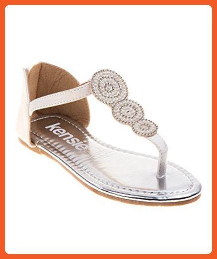 c1a0b884738 Kensie Big Girl Little Girl 1764 Thong White Sandals (3) - Sandals for women  ( Amazon Partner-Link)