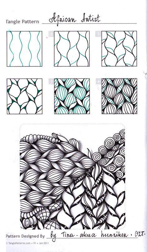 Photo of Zentangle. Обучение. Формат страницы А5. Гелевая Ñ …
