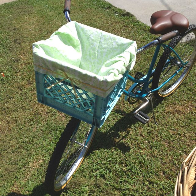 one man's trash is another man's bike basket