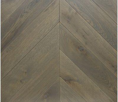 Stone Brown Engineered Chevron Oak Flooring Thickness 16 Mm Or
