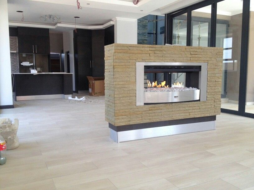 Infiniti 1000 double sided flueless gas fireplace