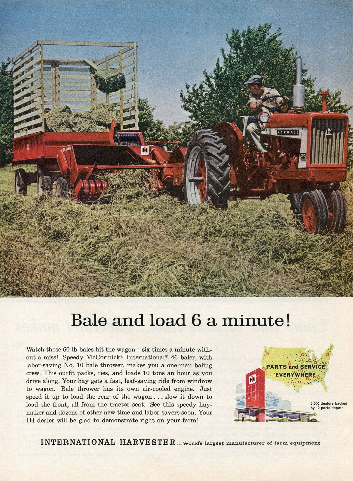 1950 ford tractor hay baler ad | Farmall 504 ads - Coffee Shop - Red Power  Magazine Community