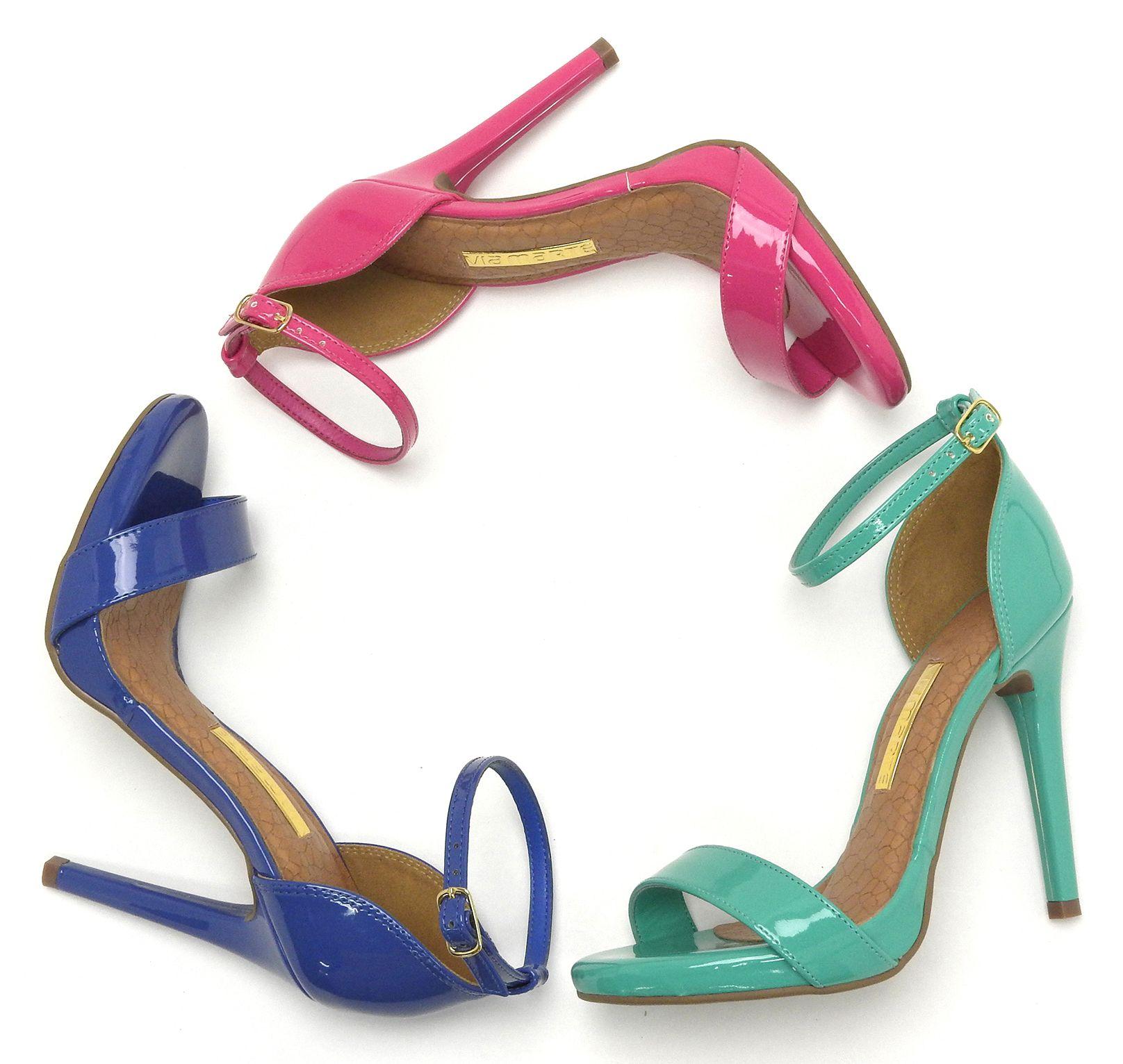 3549fc6709 Sandália de salto alto – heels – cores – rosa – pink – azul - summer –  Verão 2016 - Ref. 15-19001