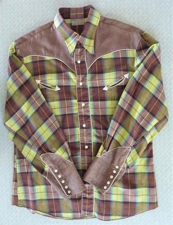 Rare Vintage 1940s Bullock S Los Angeles Men S Western Etsy Western Shirts Vintage Western Wear Western Wear