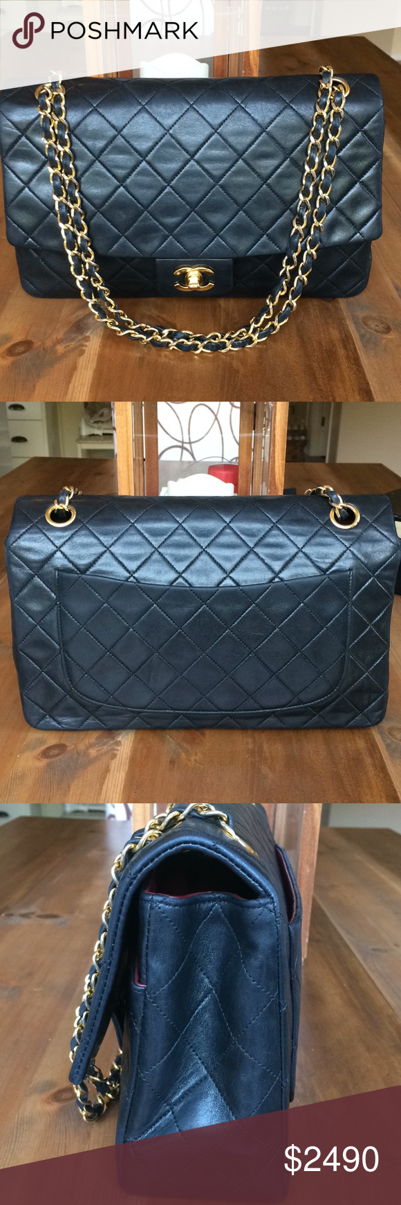 """9e5d73de5bb2 CHANEL Vintage Lambskin Classic 11"""" Jumbo Flap LIMITED EDITION. Just got  back from Complete"""