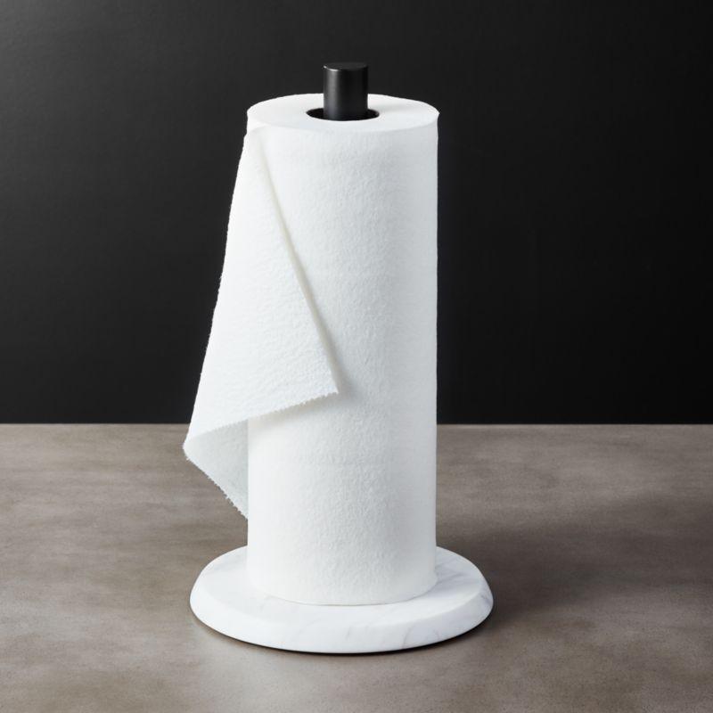 White Marble Kitchen Towel Holder