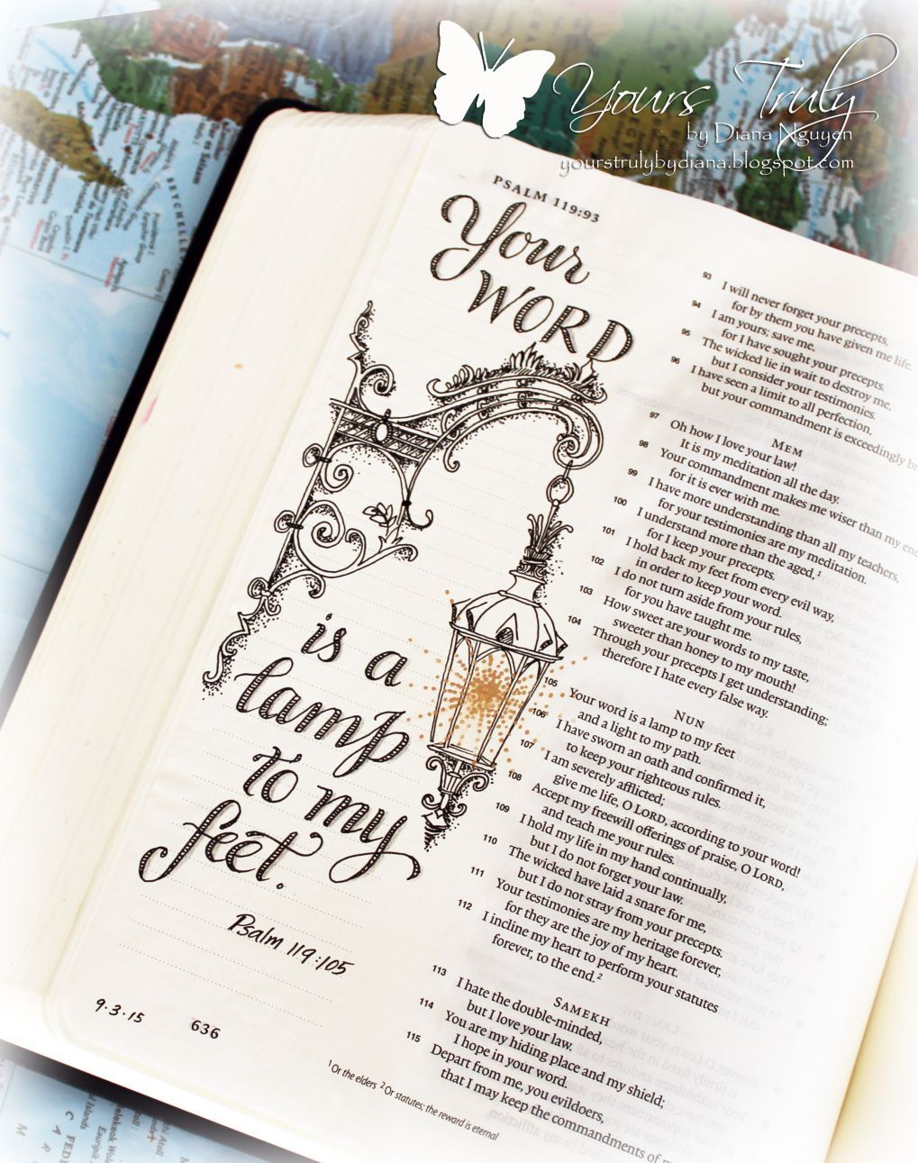 Diana Nguyen, Bible Journaling, Illustrated Faith, Psalms ...