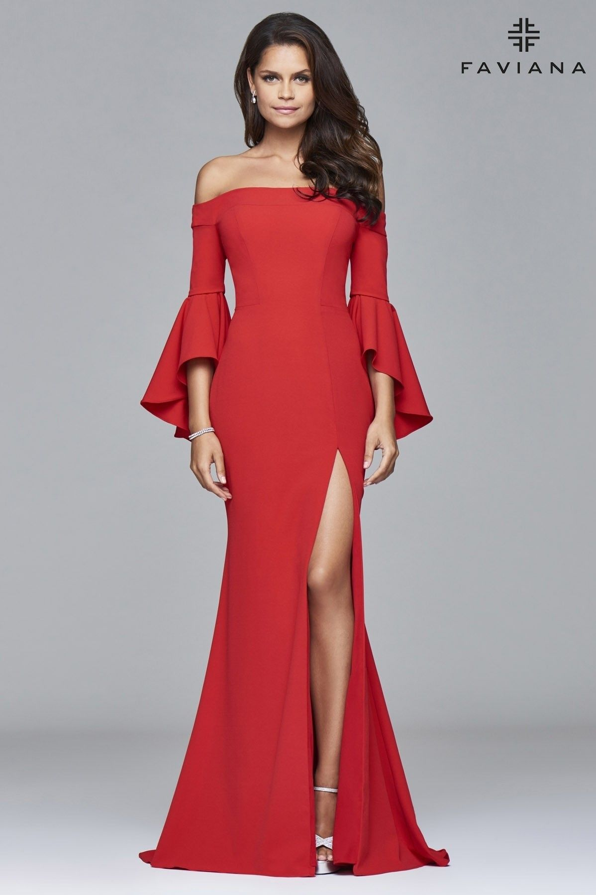 3e1c94112271 Check out this wide sleeved dress. www.thepromstoremo.com