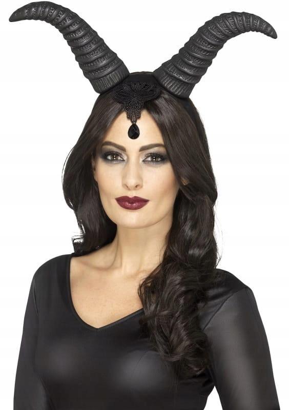 Opaska Diabelskie Rogi Przebranie Halloween Diabel 8559860969 Oficjalne Archiwum Allegro Disfraz De Malefica Vincha De Halloween Malefica