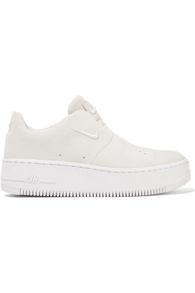 buy online 2834e d5fb5 Nike   The 1 Reimagined NikeLab Air Force 1 Sage suede slip-on sneakers    NET-A-PORTER.COM