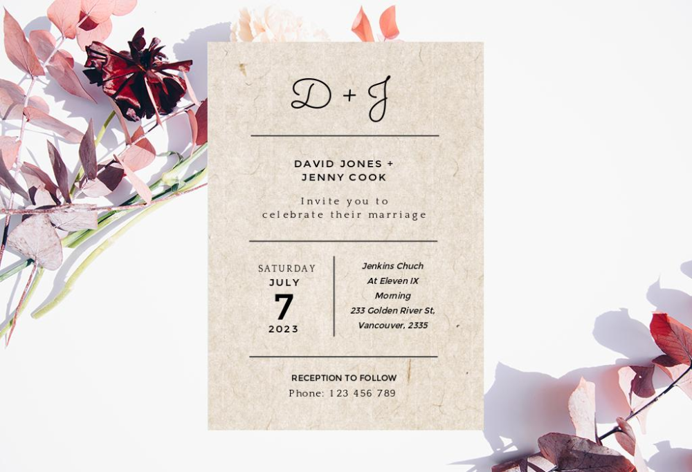 tips for making wedding invitation card with your own