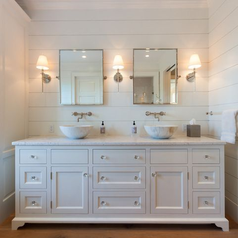 Marvelous White Built In Media Center With Shiplap Wall Home Design Download Free Architecture Designs Viewormadebymaigaardcom