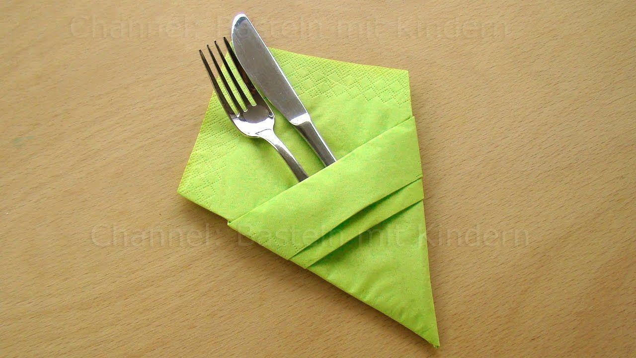 Pliage Serviette Facile Range Couverts pliage de serviette en papier range couvert. | pliage