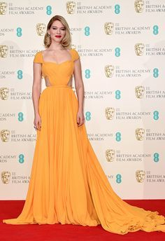 Léa Seydoux in Prada at the 2015 BAFTAs...