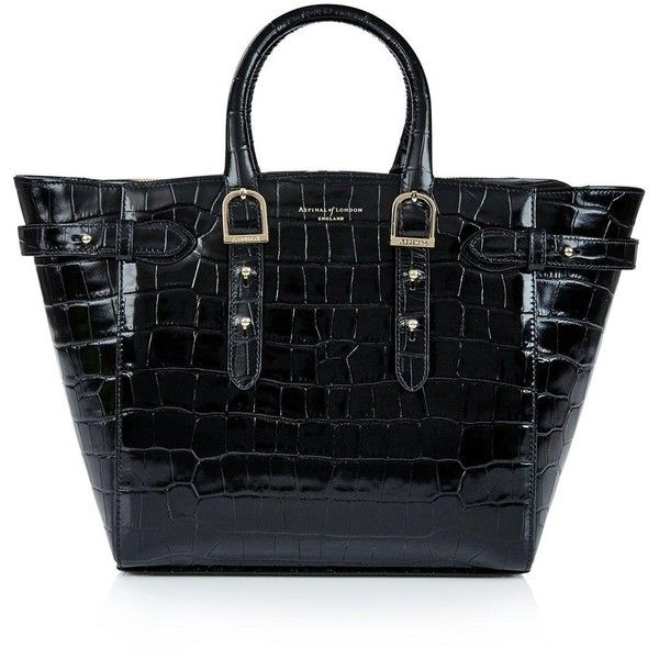Aspinal Of London Marylebone Croc Midi Tote (£850) ❤ liked on Polyvore  featuring bags 7d84aa94232c3