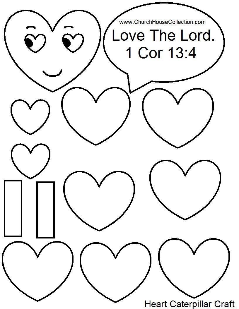 Heart Caterpillar Valentine S Day Craft For Sunday School Kids Love