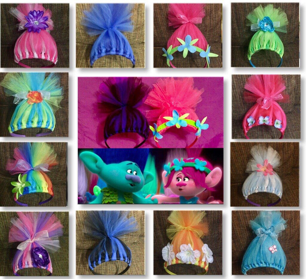 Troll headbands trolls inspired costume accessory poppy hair troll headbands troll costume accessory poppy hair poppy headband inspired by but in no way affiliated with any trolls products solutioingenieria Image collections