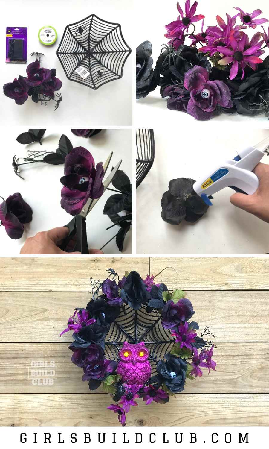 Photo of DIY Halloween Wreath – A Dollar Store Decor Project – Girls Build Club