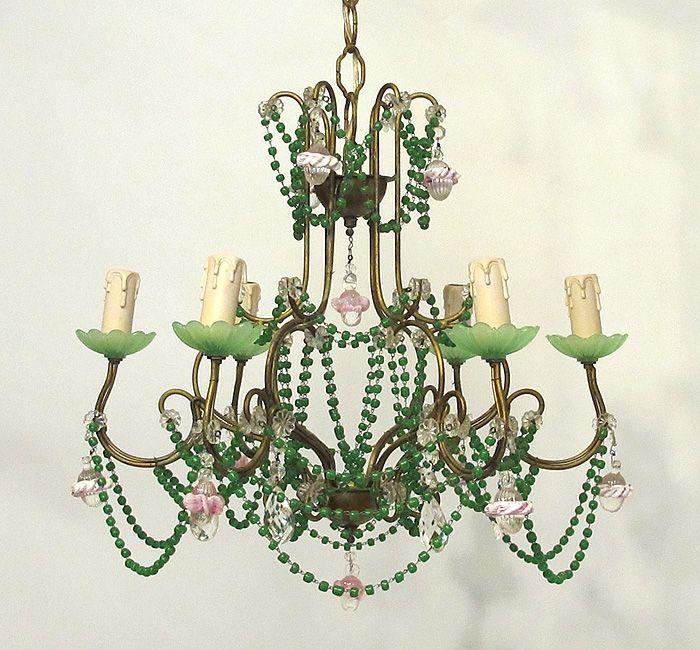 Whimsical Vintage Italian Beaded Chandelier | my shop ...