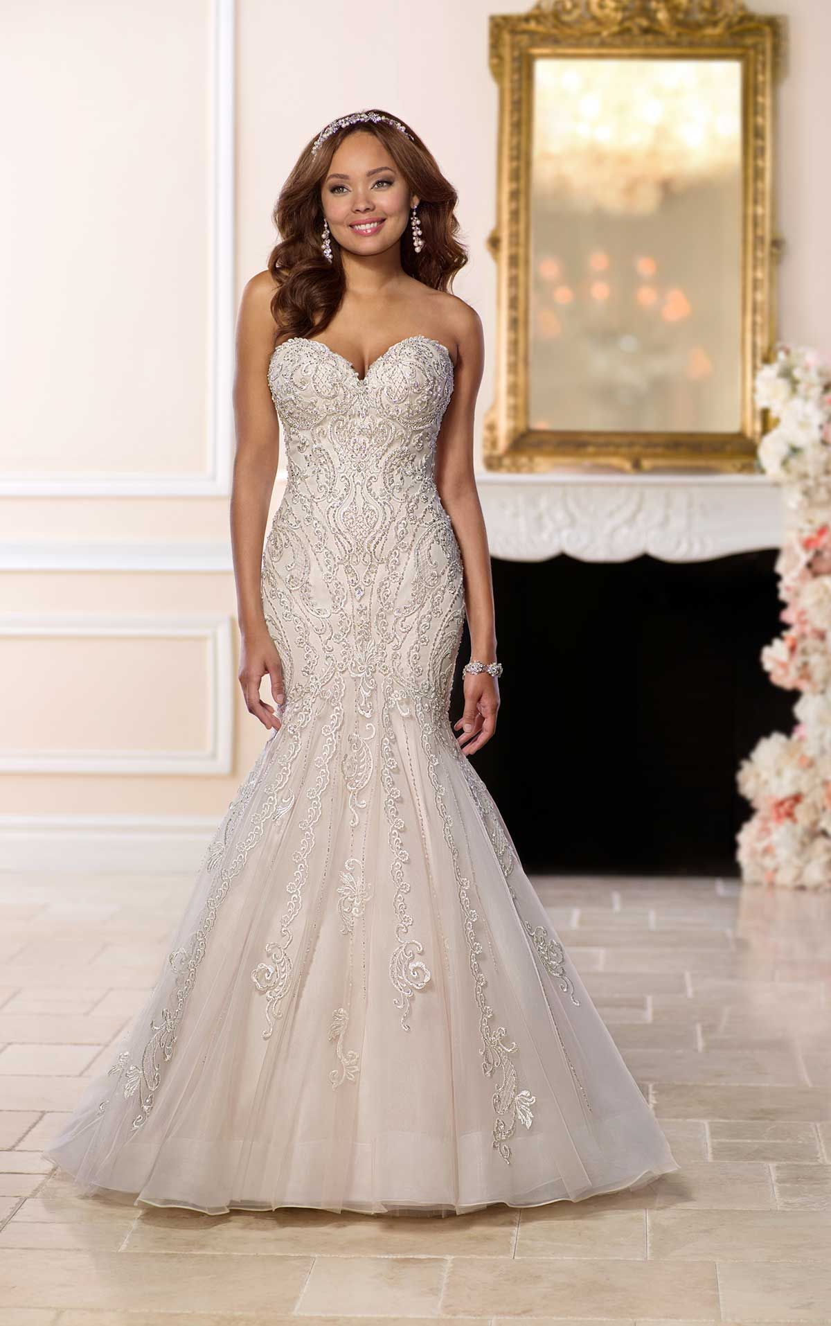 39c2fd8721e Mermaid Wedding Dress with Glamorous Lace in 2019