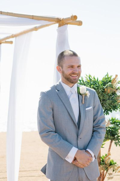 Summer California Beach Wedding | Groom outfit, Wedding summer and ...