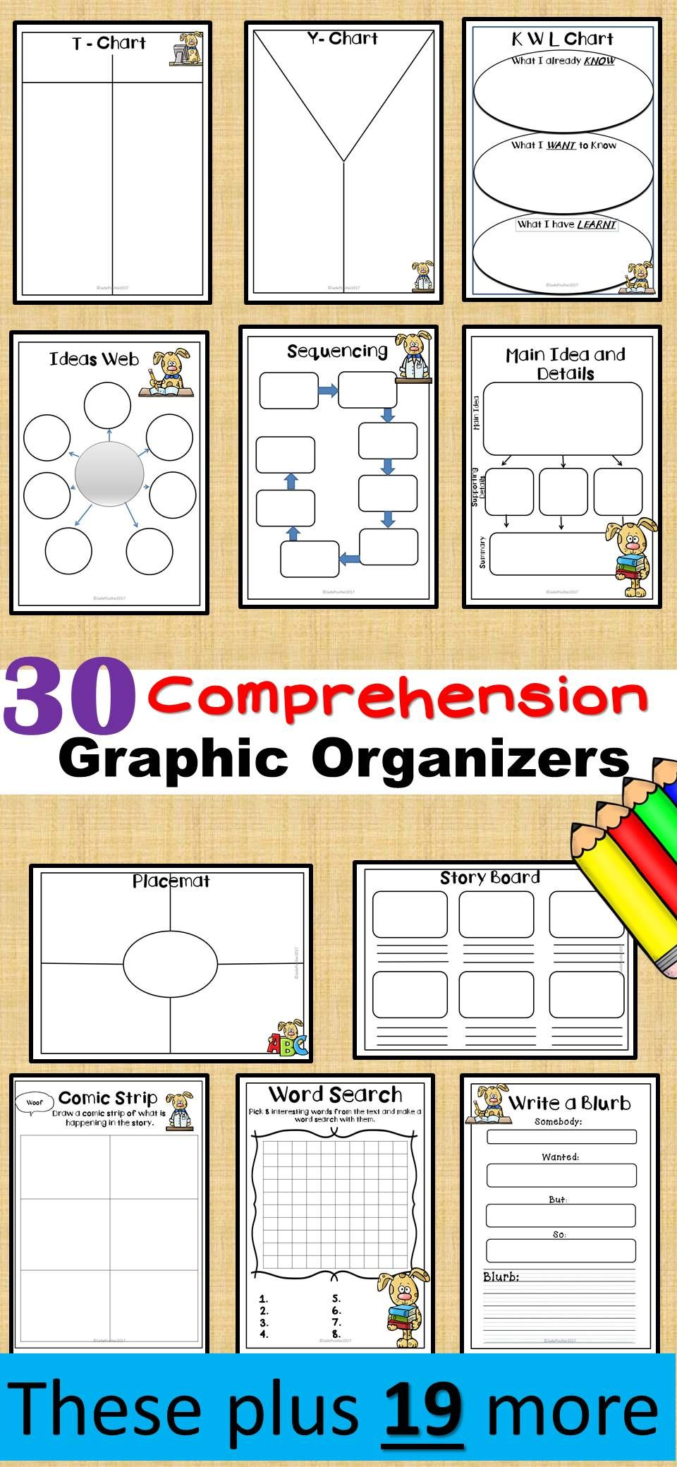 reading response sheets for any book 30 graphic organizers bts30
