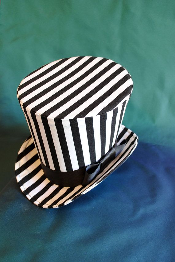 535671cb7196 Striped Top Hat,Steampunk Circus Ladies Top Hat,Halloween Top Hat ...