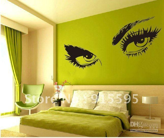Retail Hot Selling Sexy Big Eyes Wall Stickers/ Decor Decal/ Vinyl Stickers  Removable