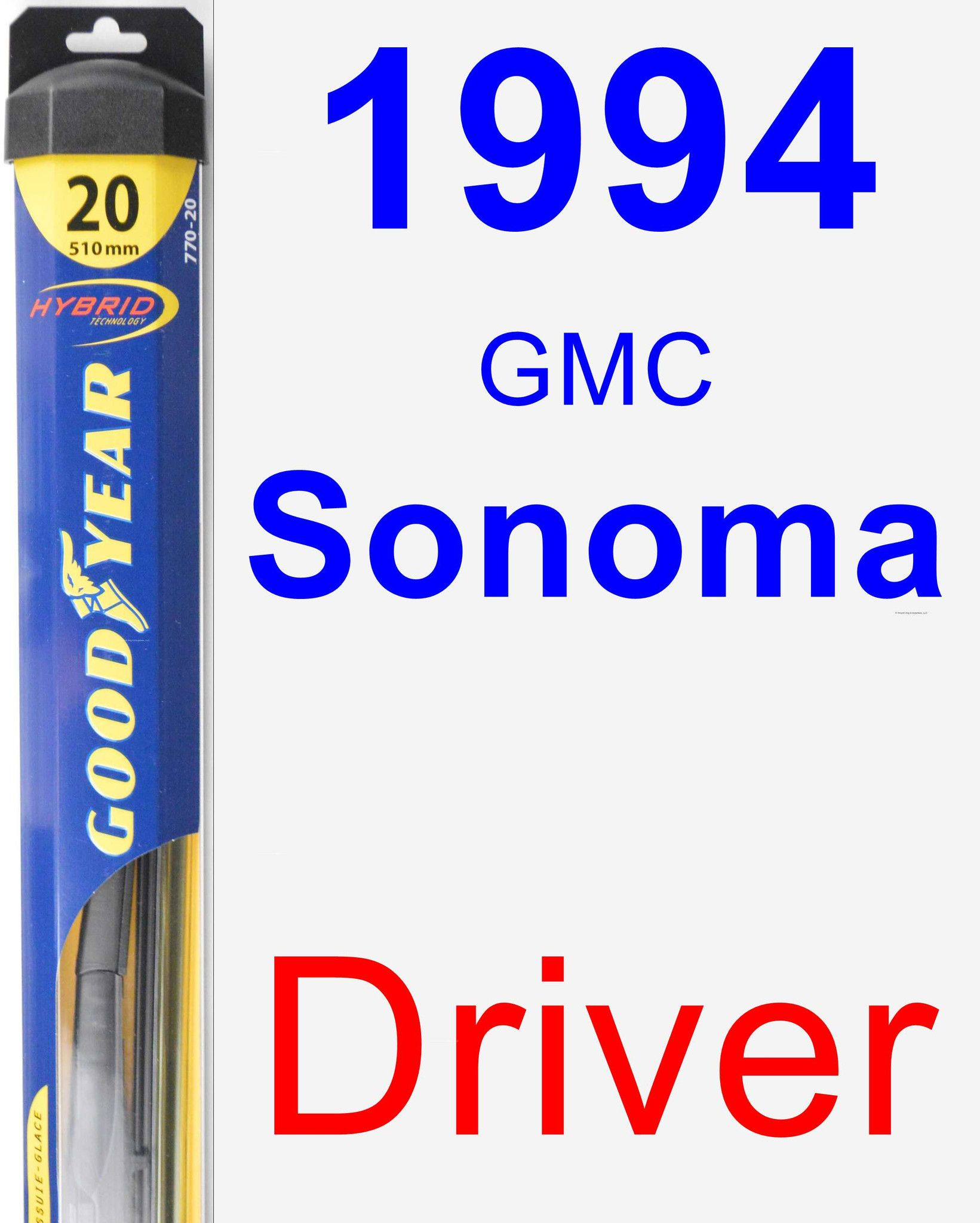 Driver Wiper Blade for 1994 GMC Sonoma - Hybrid