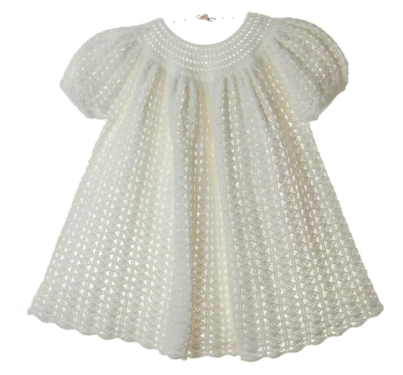 custom crocheted winter white baby dress,winter white crocheted