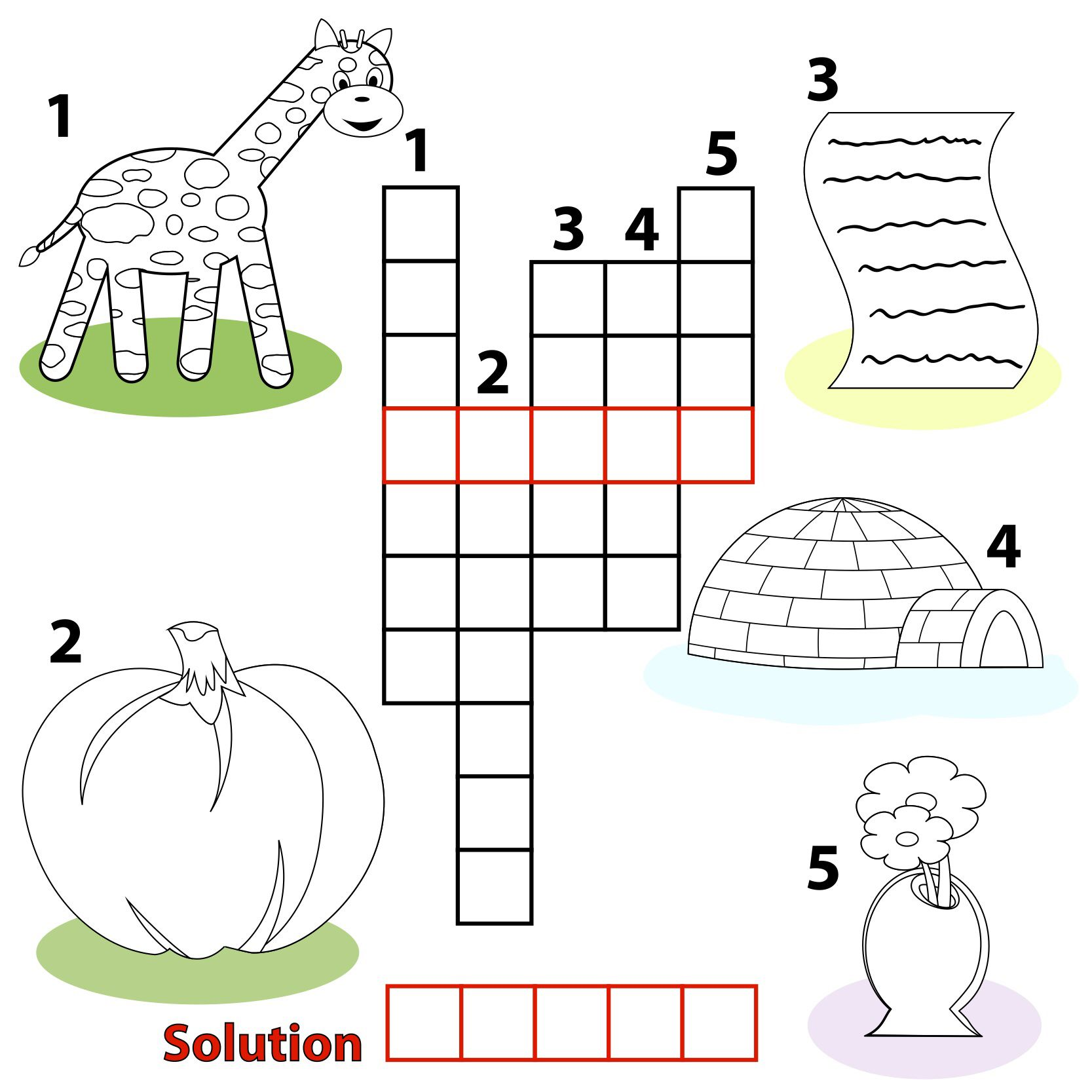 Game with shapes of different colors crossword - Word Puzzles Prefixes Crossword Shelters Literacy
