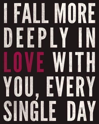 'Fall in Love' Giclee Print - Sasha Blake | Art.com
