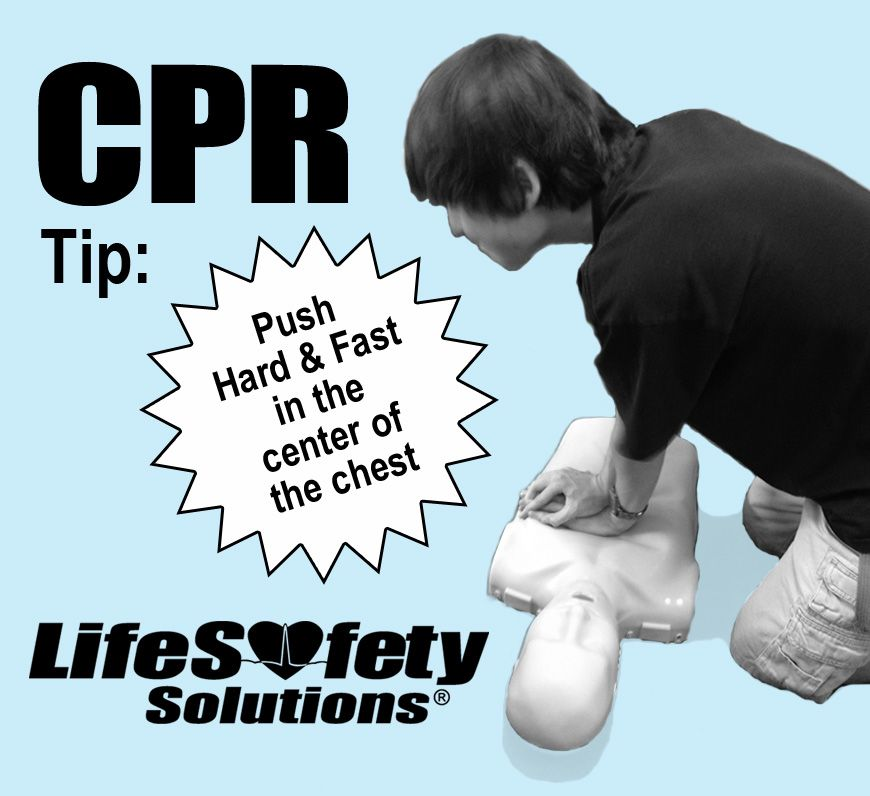 HandsOnly CPR Tip of the Day Push hard and fast in the