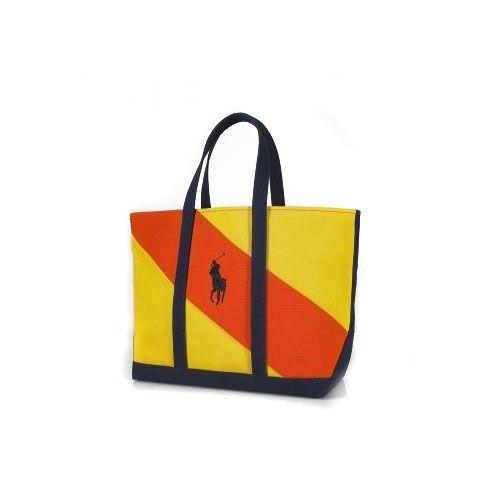 Ralph Lauren Women's 2023 Canvas Tote in Yellow/Orange