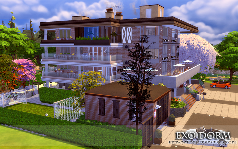 The Sims 4 - Request: Kpop EXO Dorm | Homeless Sims