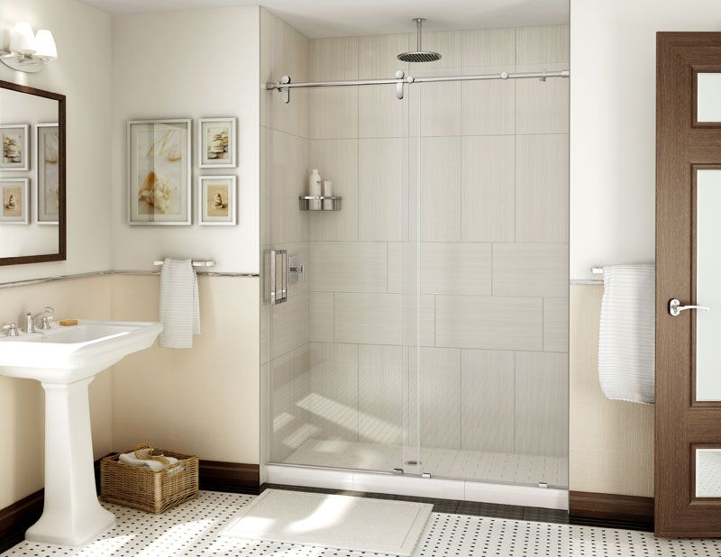 Frameless Heavy Glass Shower Door - Alumax Bath Enclosures PL80 ...