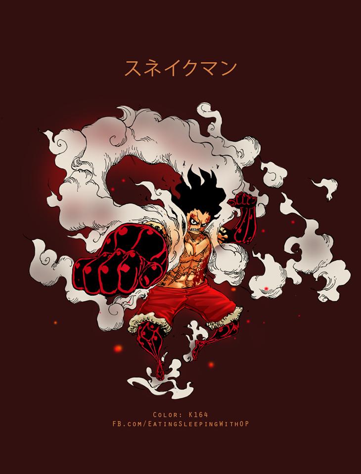 Luffy Sesion Gear 4 Snake Man D Onepiece Luffy Snakeman Seni Anime Animasi Illustration