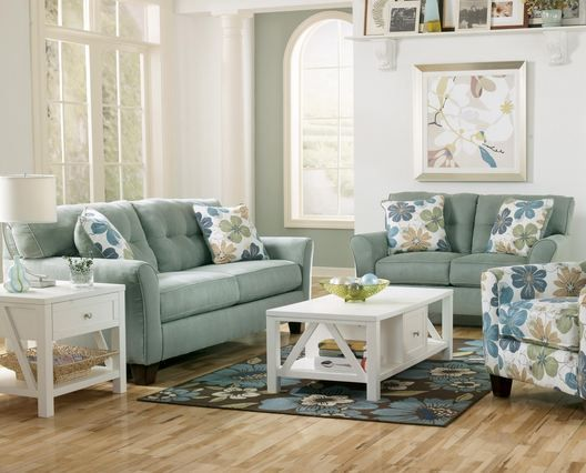 Lagoon Blue Sofa With Er Yellow Walls Or